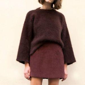 Frankie Shop Burgundy Mini Skirt